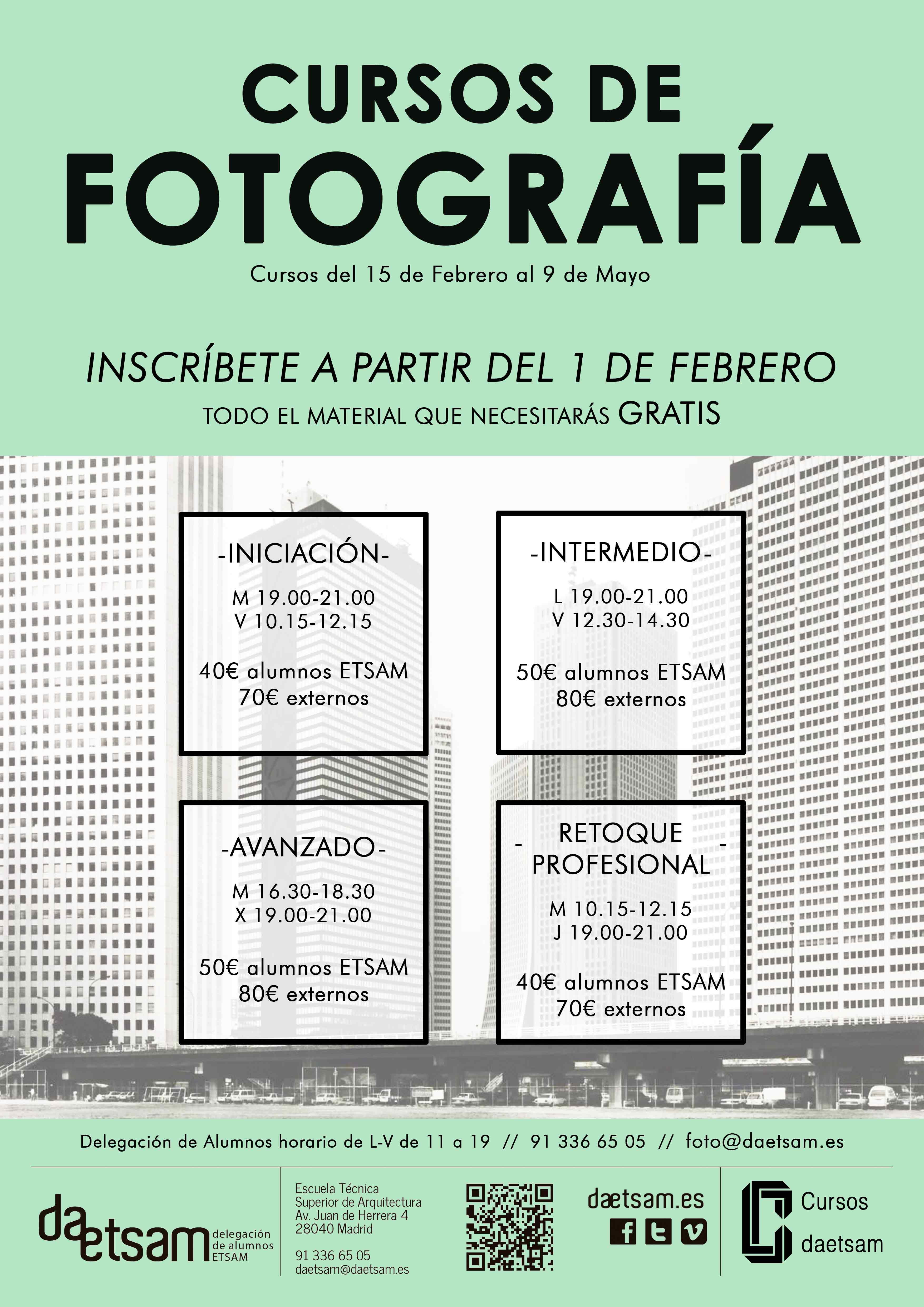 Bea 141 cursos de fotograf a digital anal gica y for Cursos facultad de arquitectura