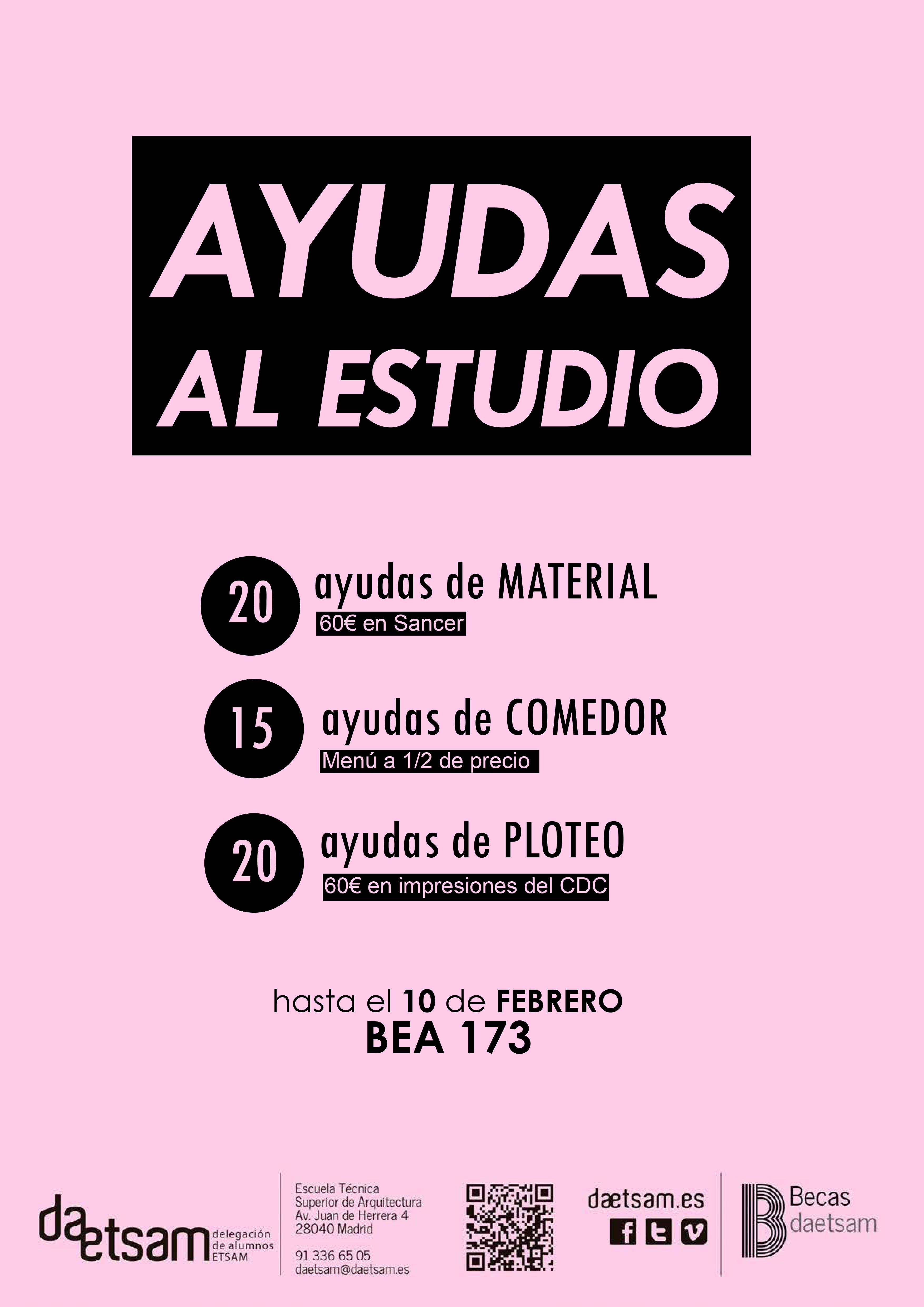 BEA 173/ AYUDAS AL ESTUDIO | Delegación de Alumnos de la Escuela ...