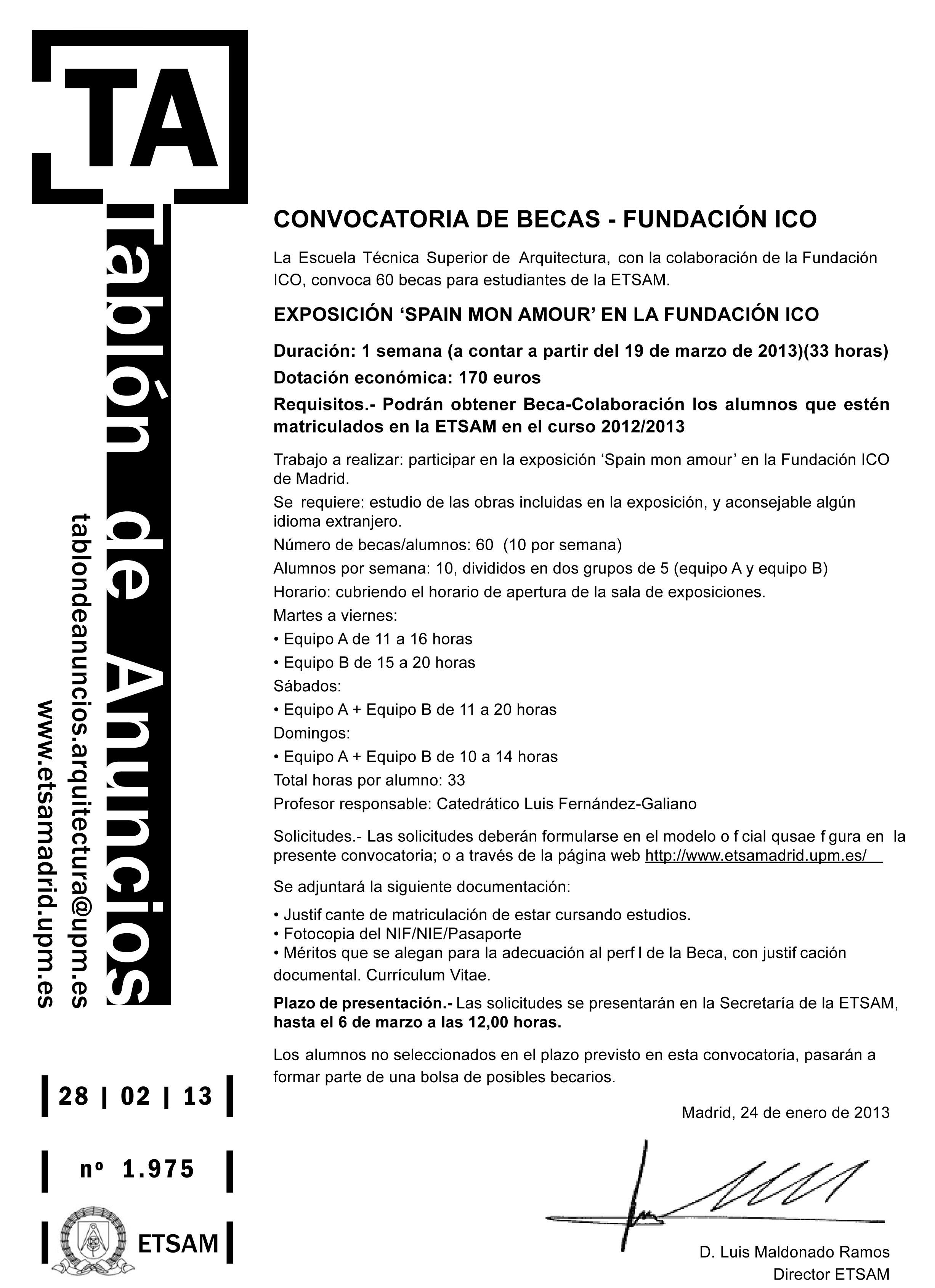 Spain mon amour en el museo ico delegaci n de alumnos for Escuela tecnica superior de arquitectura