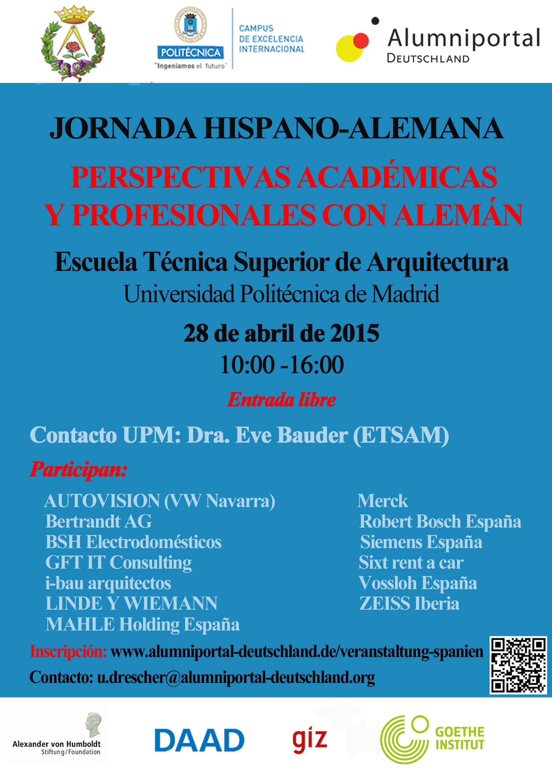 Jornada hispano alemana trained in germany for Escuela tecnica superior de arquitectura