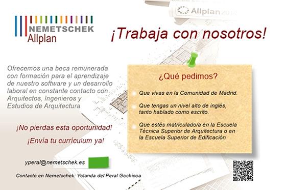 Oferta de beca de nemetschek delegaci n de alumnos de la - Trabajo para arquitectos en espana ...