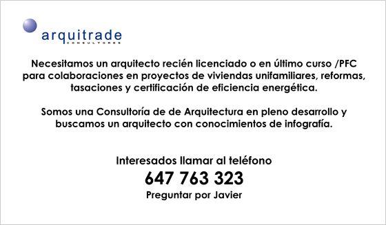 Oferta de trabajo de arquitrade consultores delegaci n for Trabajo de arquitecto